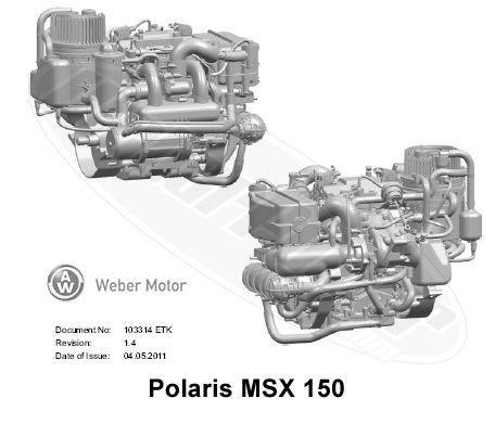 Polaris Msx 150 Engine Parts