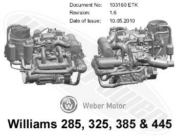 williams 285 325 385 bosch etb models engine parts rh weberpower com Webber Engine Weber Engines USA