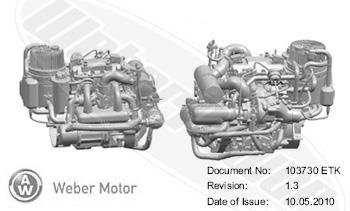 Weber MPE Marine 143HP - Multi-Purpose Marine Engine