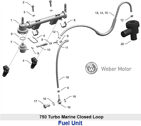 Weber Multi-Purpose Turbo Marine Engine 143 H P  Fuel Unit